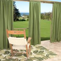 Sunbrella Spectrum Cilantro Outdoor Curtain with Tabs 50