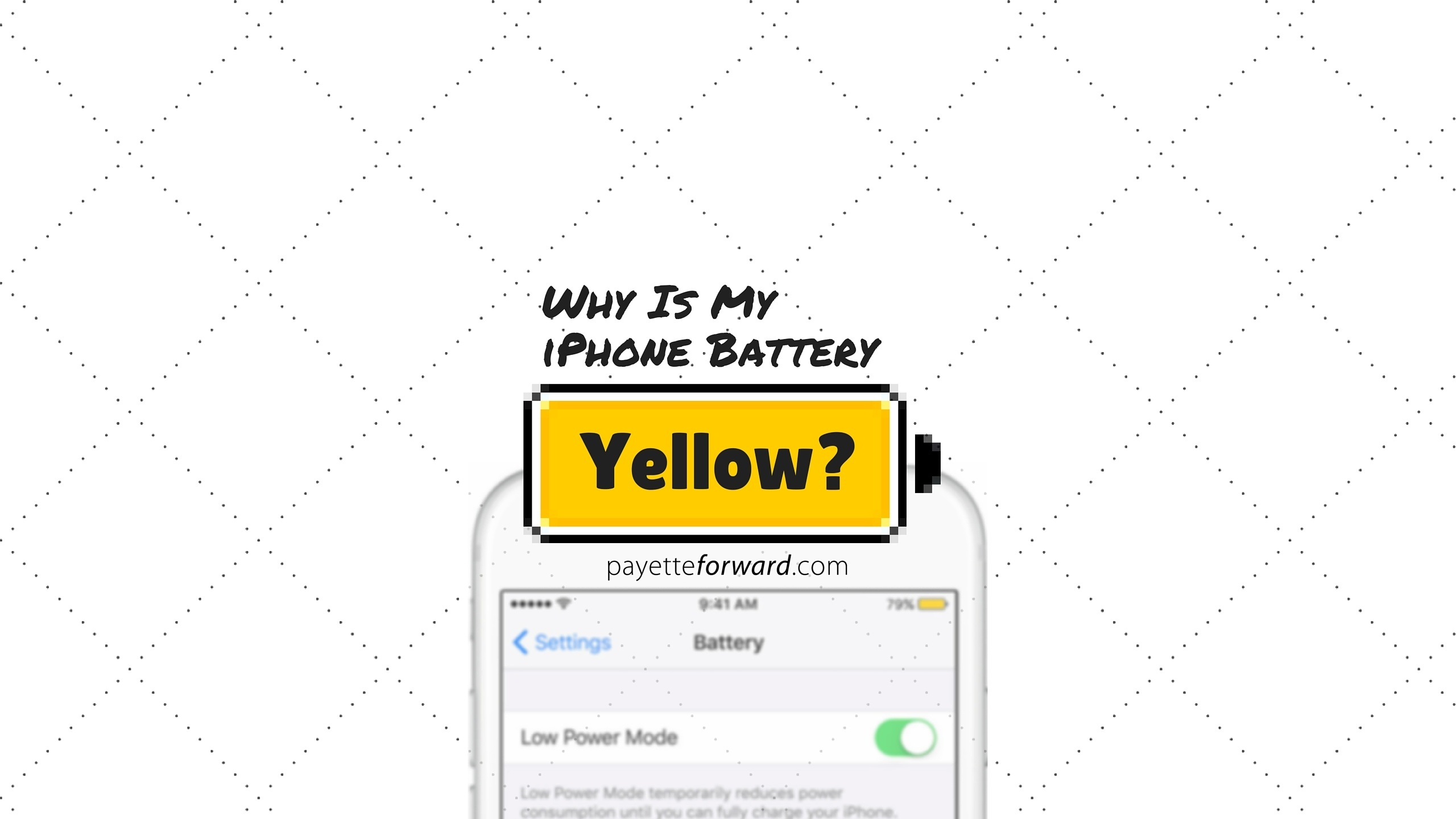 Battery Symbol Iphone Why Is My Iphone Battery Yellow Here 39s The Fix