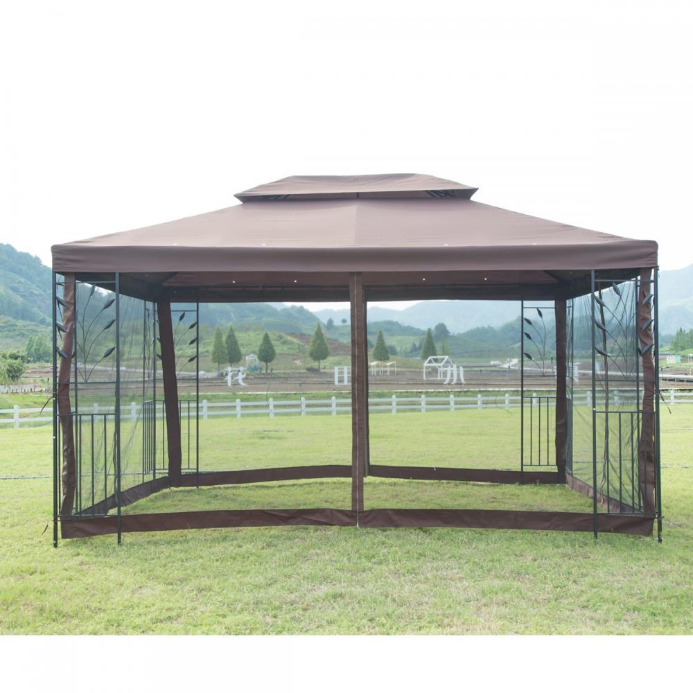 Metal Garden Gazebo New 10 X 10 Outdoor Gazebo Steel Frame Vented Garden Gazebo Canopy