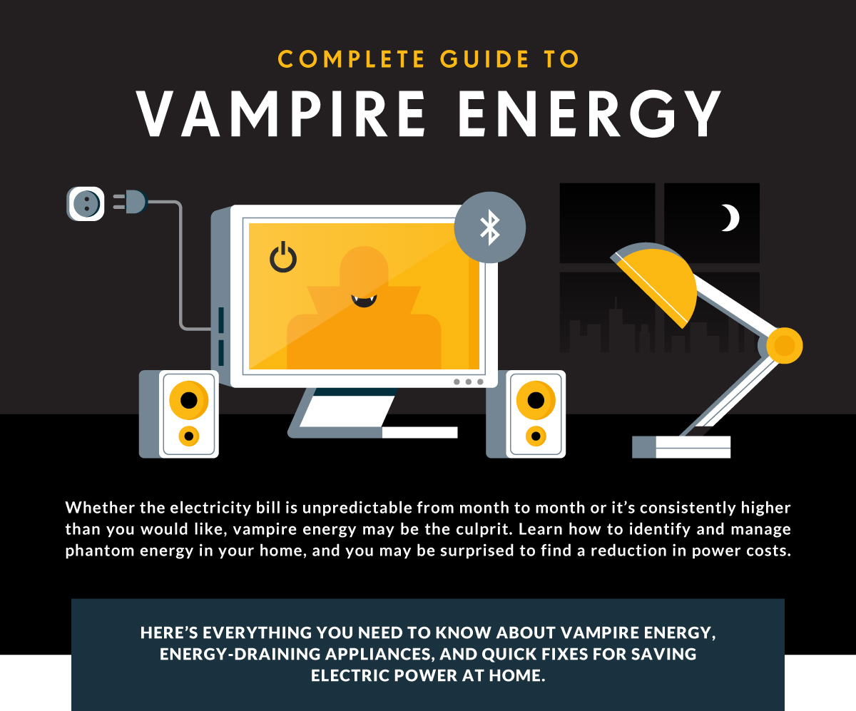 Power Electric Vampire Power The Complete Guide To Getting Rid Of Vampire Energy