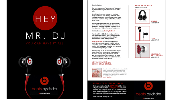 Digital Poster Beats By Dr. Dre Campaign - Emmdash Design