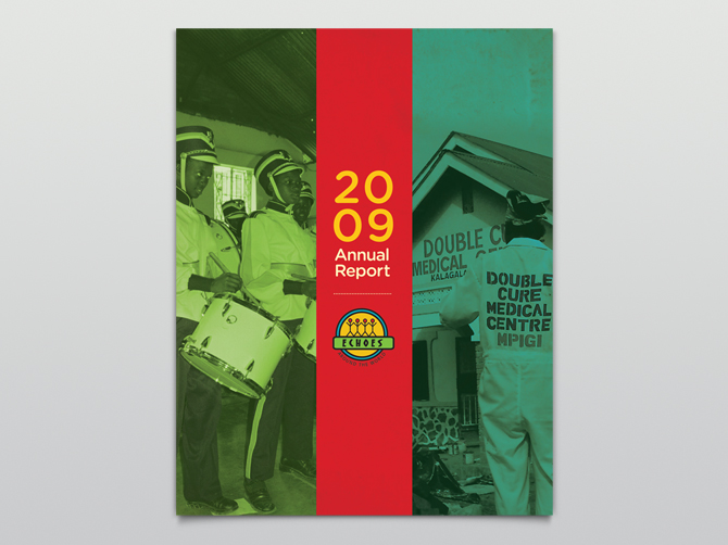 Echoes Annual Report Covers - Dina Cicchini I Graphic Design - reports designs