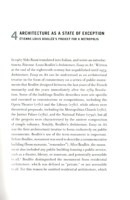WRITE ALDO ROSSI\u0027S INTRODUZIONE A BOULLÉE (1967) - SALLY FARRAH
