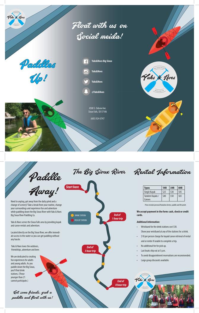 Digital Imaging Designing a tri-fold business brochure - Joungyun Choi