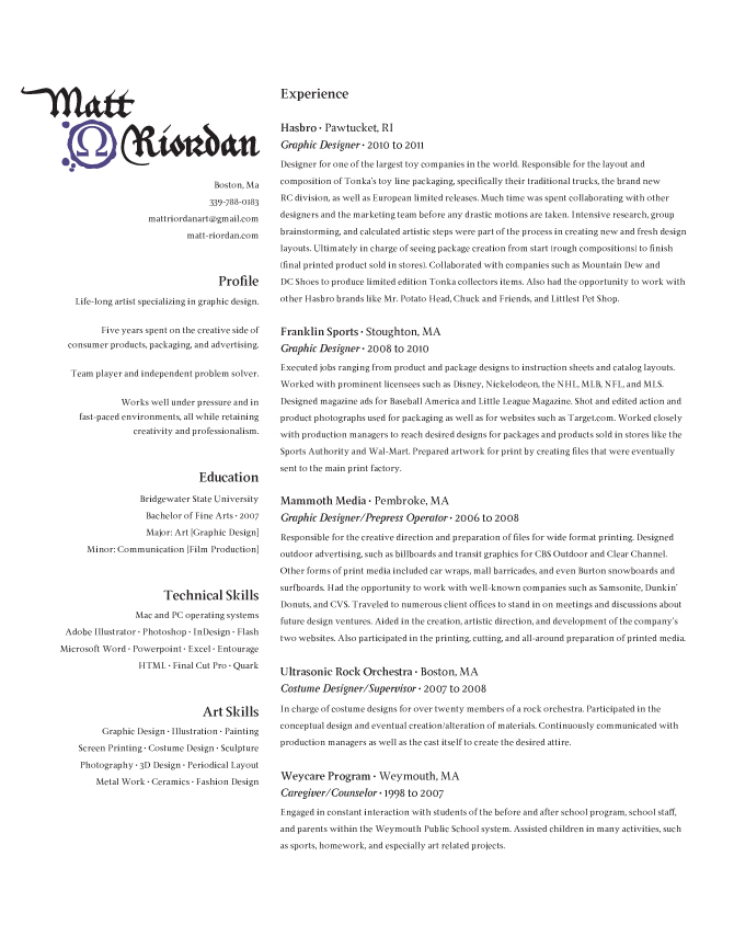 resume references available upon request 4 5