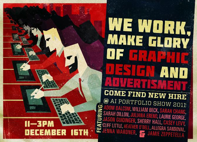 Ai Graphic Design Portfolio Show Postcard - Adom Balcom Visual Design