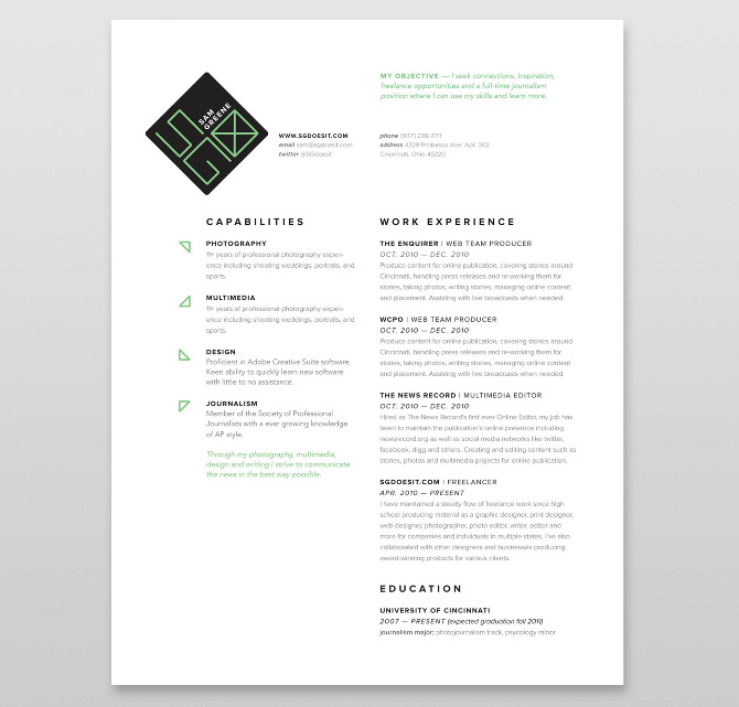 Catalogue design for beauty salon in Geneve, Swiss - Alex Sander - 3 page resume