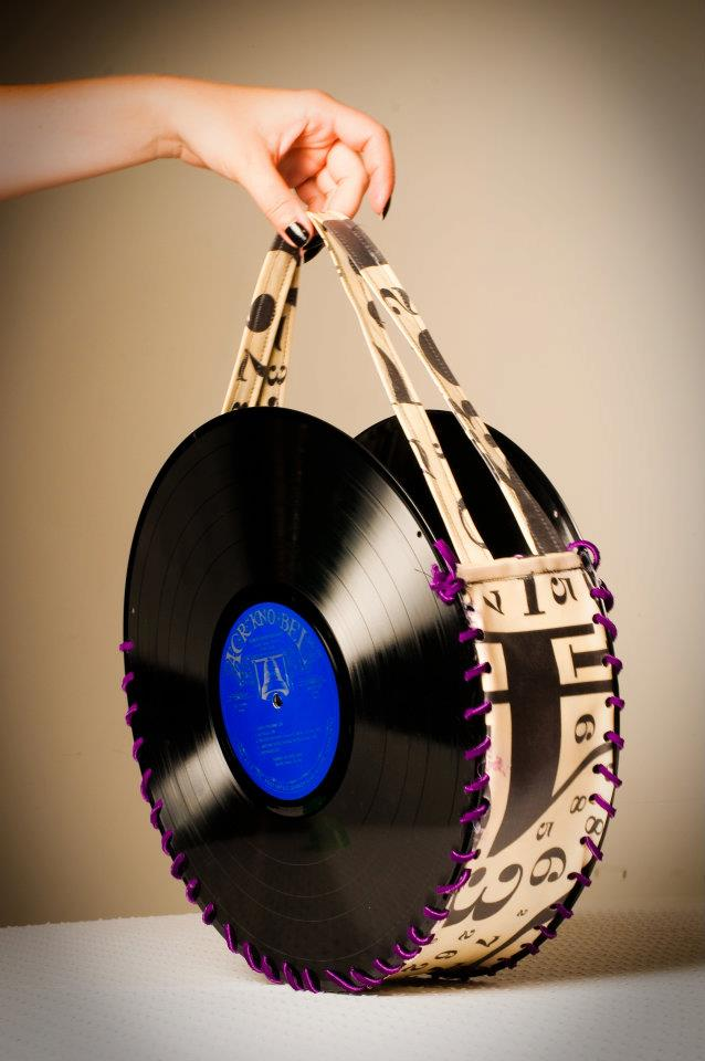 Couch Cord Vinyl Record Purses - Chapeau Girls