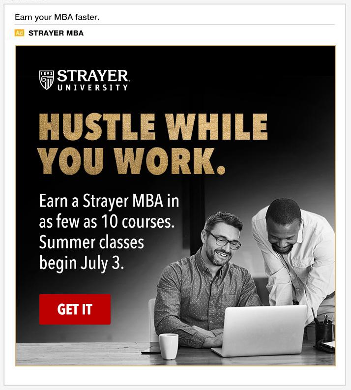 Strayer University - Aaron Spratt, advertising and digital creative