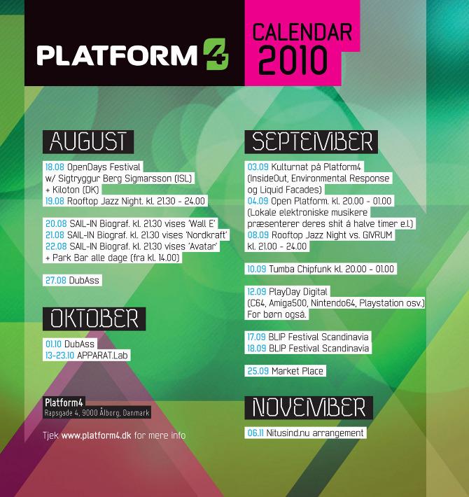 Platform4 calendar 2010 - cynic design  visuals_static  in motion