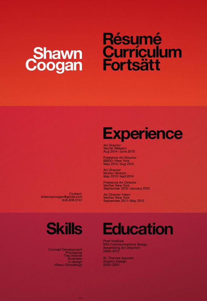 Shawn Coogan / Art Director / Resume - Shawn Coogan\u0027s Portfolio