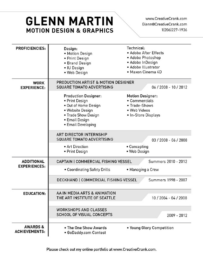 creative resume headers - Josemulinohouse