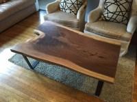 Black Walnut Slab Coffee Table - Ambrose Woodworks