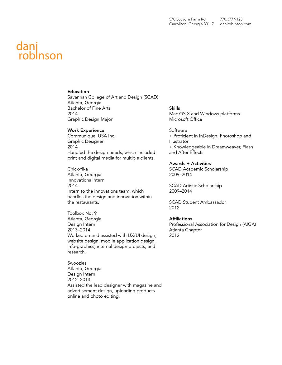 fine arts resume