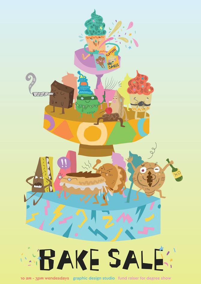 Bake Sale - Kaiyee Illustrator Designer Singapore - bake sale images