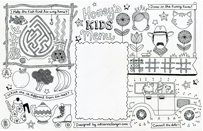 Blank Menu Template For Kids