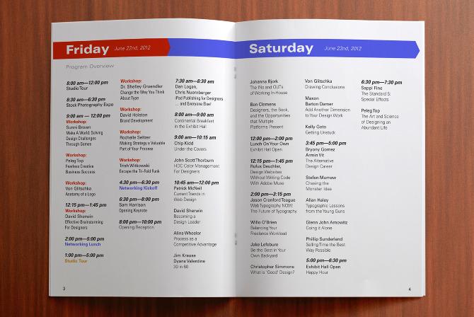 HOW Design Live Program Book - Clark Graphics