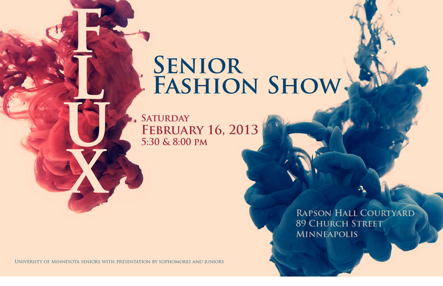 Flux Fashion Show 2013 - Sarah Windisch\u0027s Portfolio - fashion poster design