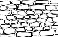Brick Wall Coloring Sheet | Coloring Page