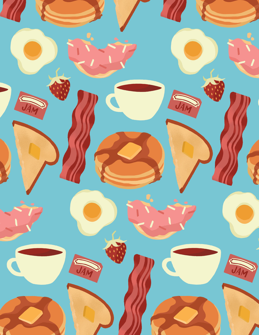 Cute Shoes Wallpaper Food Patterns Illustration By Niki Sauter