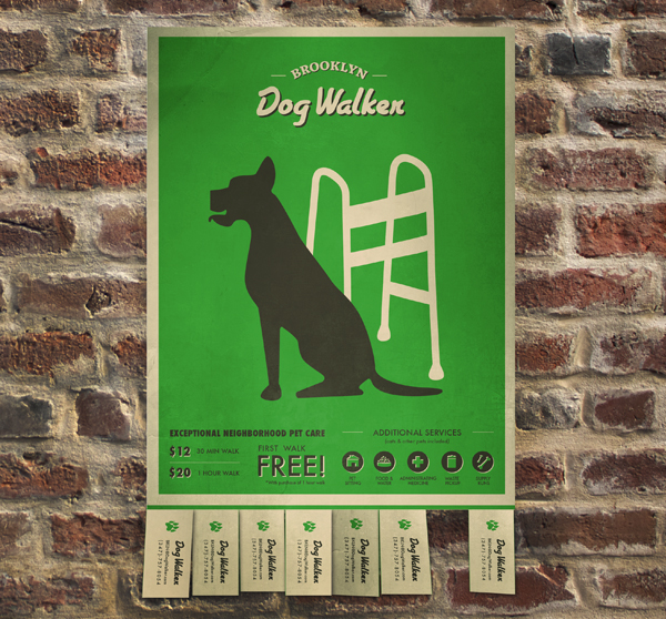Brooklyn Dog Walker - Graphic Design Projects
