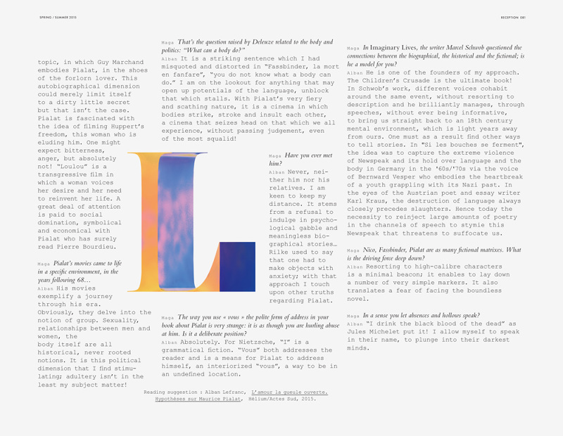 Double Magazine - Leslie David - double lined paper