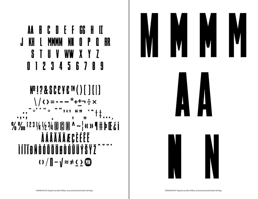 Timmons NY Typeface For Sale, for Cancer Charity - Matt Willey - free resume cover letters