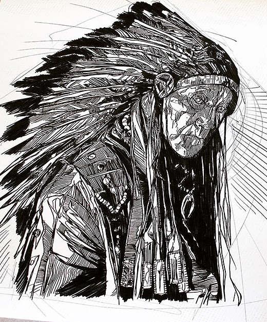 Wallpaper Black Design Indian Chief Luke Dixon Artist