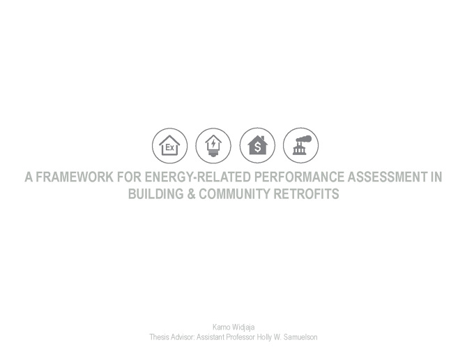 A Framework for Energy-Related Performance Assessment in Building