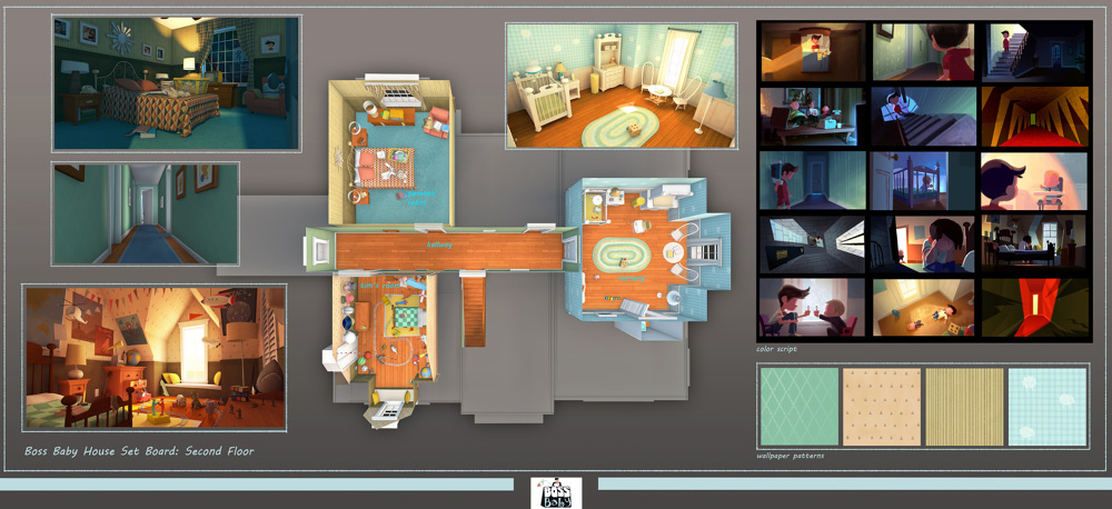 3d House Wallpaper Room Boss Baby David Huang Projects