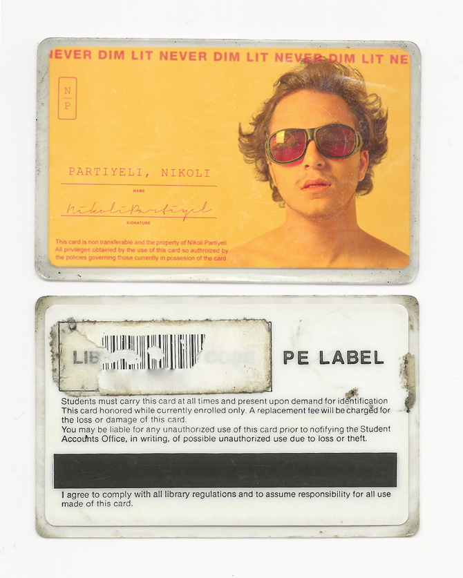 1980s Identification Card - Nikoli Partiyeli - student identification card