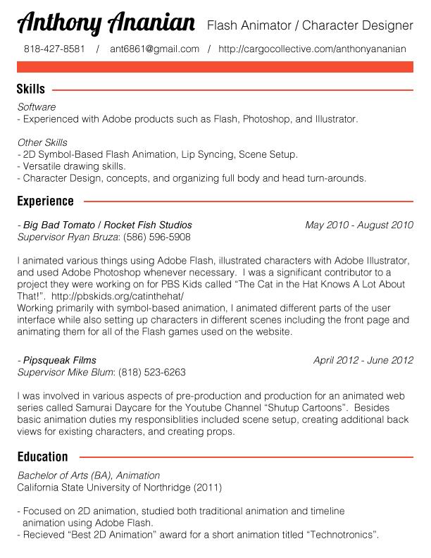 flash designer resume - Boatjeremyeaton