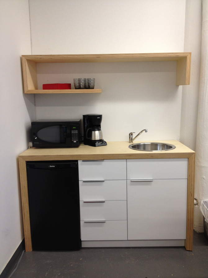 Mini Office Warehouse Magazine Office Kitchenette - David Abraham