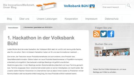 Vorbild für Banken - Volksbank Bühl