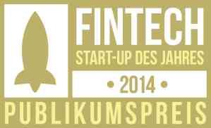 Sieger des Publikumspreises – FinTech StartUp des Jahres 2014
