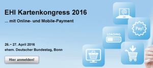 Freikarten gewinnen: EHI Kartenkongress 2016 … mit Online- und Mobile-Payment