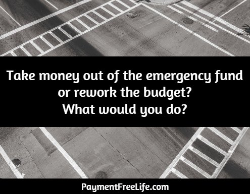 Should I use the emergency fund? - Payment Free Life - help me budget my money for free