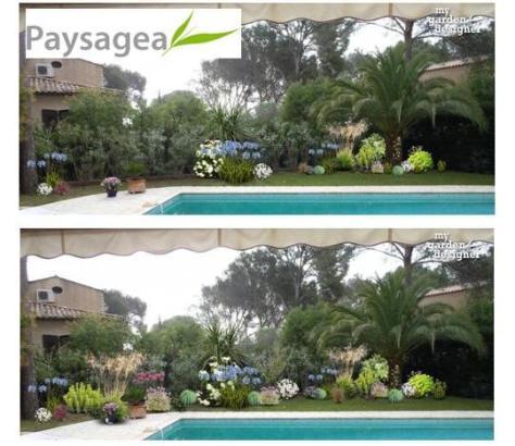 aménagement paysager bord de piscine