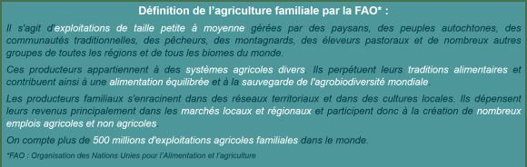 Définition agriculture familiale