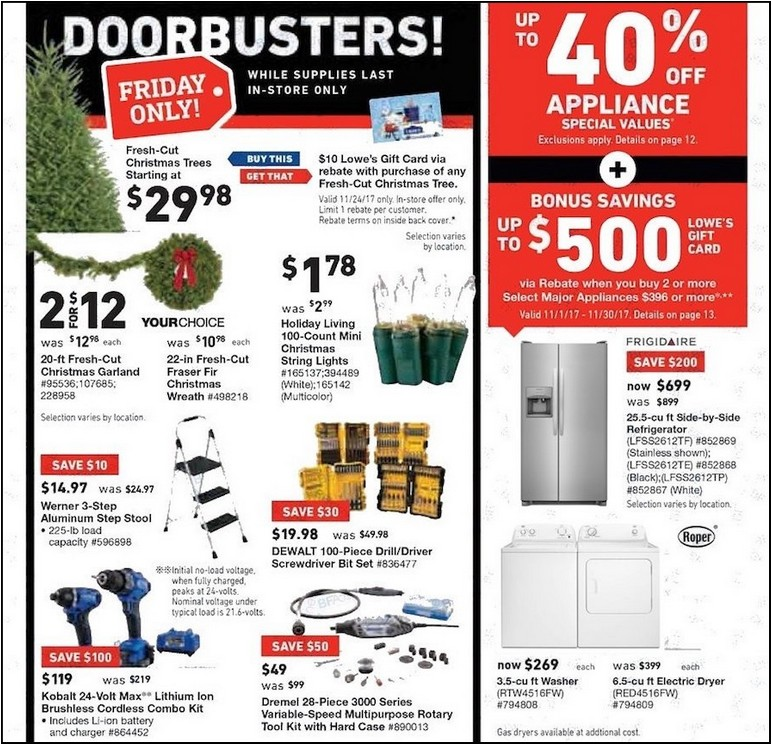 Black Friday Refrigerator Deals 2017 Lowes