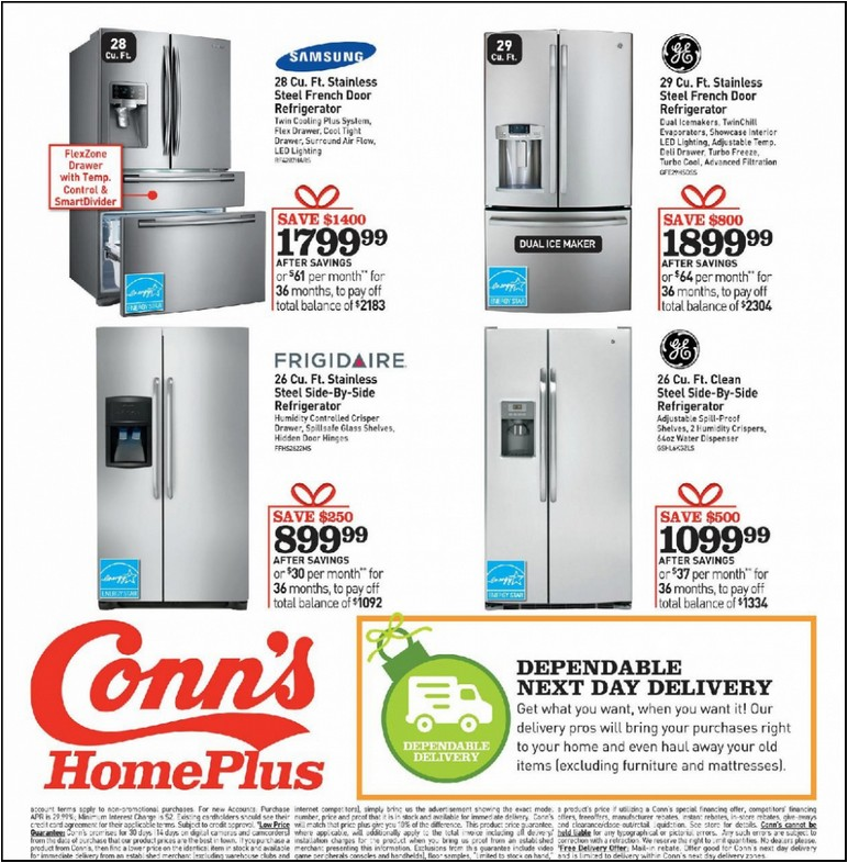 Conns Stores Refrigerators