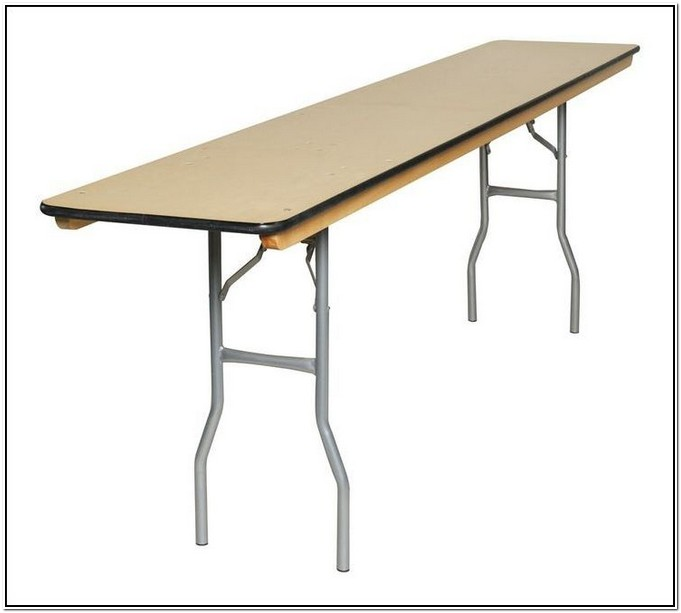 5 Foot Folding Table With Adjustable Legs