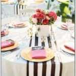Black And White Striped Table Runner Bulk