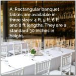 Long Banquet Table Sizes