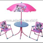 Minnie Mouse Table And Chairs With Umbrella