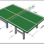 Ping Pong Table Dimensions In Cm