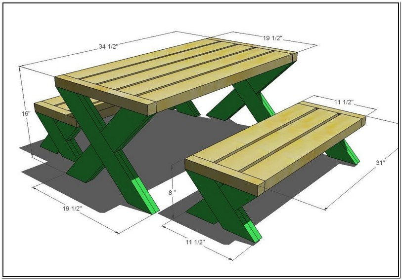 Typical Picnic Table Dimensions