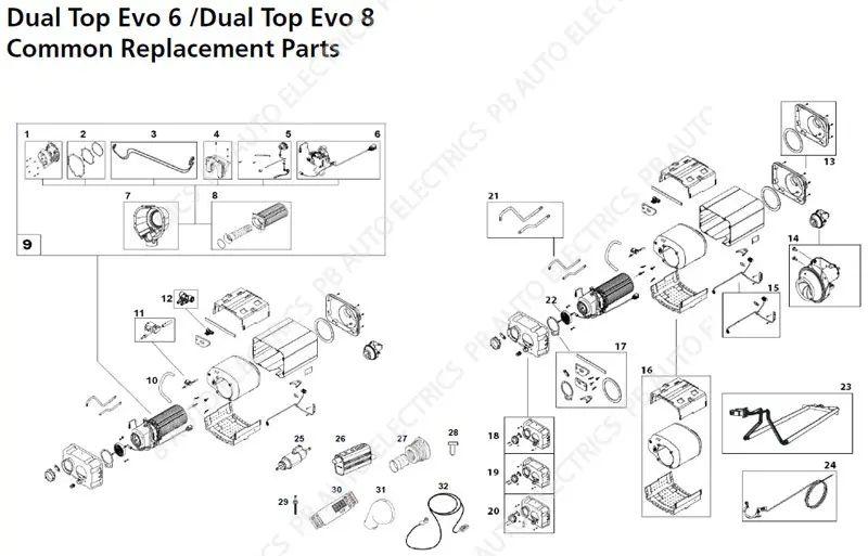 evo motor diagram