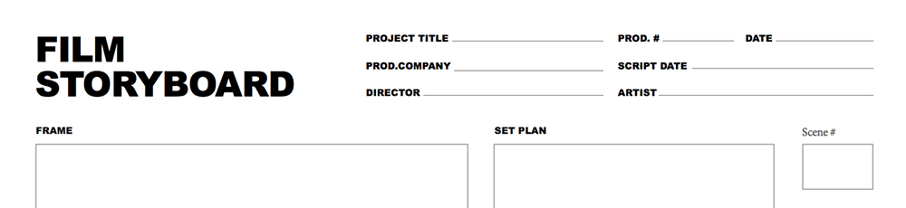 Free Storyboard Template for Film and Video Projects - free storyboard templates