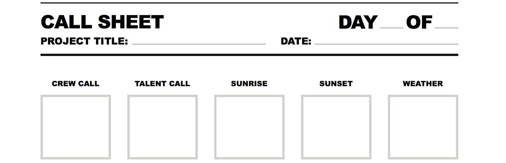 Studio Binder The Call Sheet You Won\u0027t Throw Away - call sheet example